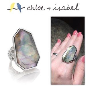 Ocean Lace Statement Ring Size 6 - Chloe + Isabel